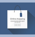 Online shopping with package web banner vector image