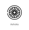 outline ashoka icon isolated black simple line