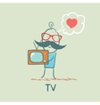 people like TV vector image vector image