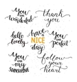 photo overlays hand drawn lettering vector image