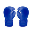 photo-realistic boxing gloves in the vector image vector image