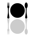 plate with cutlery vector image