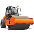 road work compactor roller vector image vector image
