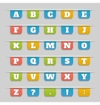 set bookmarks stickers labels tags alphabet vector image vector image