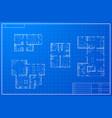 set different blueprint house plans vector image