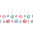 set of hanging pastel colorful birthday vector image vector image