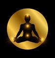 spiritual indian chakra symbol meditation man vector image vector image