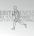Sport man running vector image