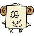 square ram cartoon vector image vector image
