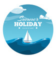 summer holiday postcard design sea vector image vector image