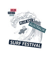surf festival poster vector image