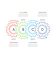 thin line business infographic template with gears vector image vector image