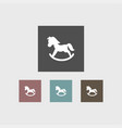 toy horse icon simple vector image vector image