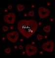 valentines day background red hearts with text vector image