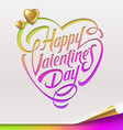 Valentines Day greeting sign - vector image vector image