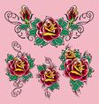 rose tattoo vector image