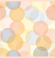 abstract transparent circles in layers seamless vector image vector image