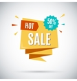 Advertising banner Hot sale 50 percent off vector image