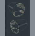 airplane fuselage section vector image vector image