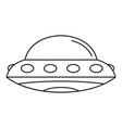 alien spaceship icon outline style