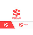 ambulance and hands logo combination medic vector image vector image