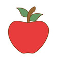 apple fresh isoloated icon vector image vector image