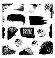 artistic realistic sponge imprint texture vector image