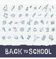 back to school concept education doodle icons vector image