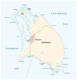barbuda map vector image vector image