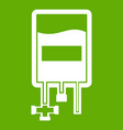 blood donation bag icon green vector image vector image