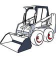 bobcat mini excavator vector image