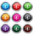 bomb on computer monitor set 9 collection vector image vector image
