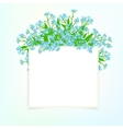 card with small blue flowers vector image vector image