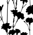 carnation silhouettes pattern vector image vector image
