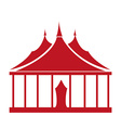 Circus tent vector image vector image