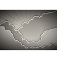 clouds gray vector image vector image