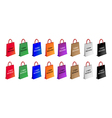 Colorful Paper Shopping Bags for Cyber Monday vector image vector image