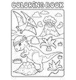 coloring book dinosaur subject image 7 vector image vector image