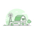 country life - modern thin line design style vector image