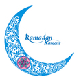 Decorative moon for holy month of muslim community vector image