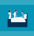 doctor men healthcare hospital workers concept vector image vector image