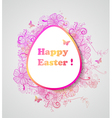 Easter background with pink flowers vector image vector image