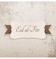 Eid al-Fitr festive greeting Banner vector image vector image