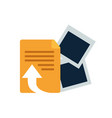 file sheet isolated icon vector image vector image