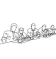 five business people talking to each other vector image vector image