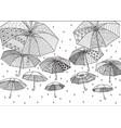 flying umbrellas vector image vector image