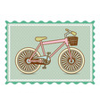 frame with silhouette of bicycle with background vector image vector image