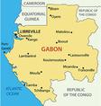 Gabon - Gabonese Republic - map vector image vector image