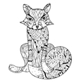Hand drawn doodle outline fox boho sketch vector image vector image