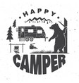 happy camper concept for vector image